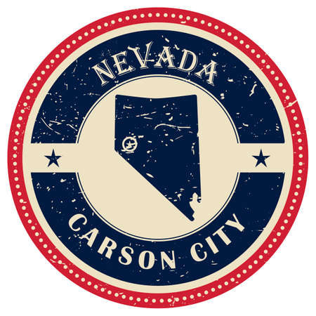 carson city: Stamp of Nevada state