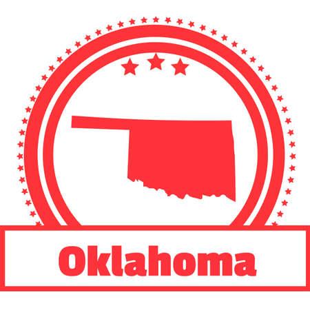 oklahoma: Oklahoma state map label