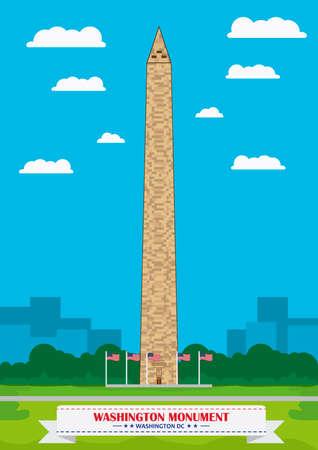 dc: Washington monument, Washington DC Illustration
