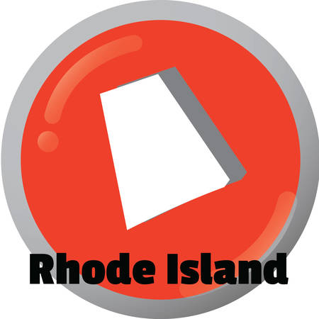 island state: Rhode island state map Illustration