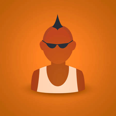 spiked hair: Man with spiked hair Illustration