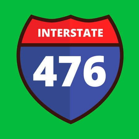 route: Interstate 476 route sign