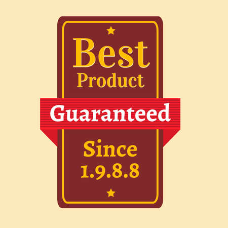 best product: Best product guaranteed label Illustration