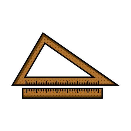 triangular: Triangular ruler instrument Illustration