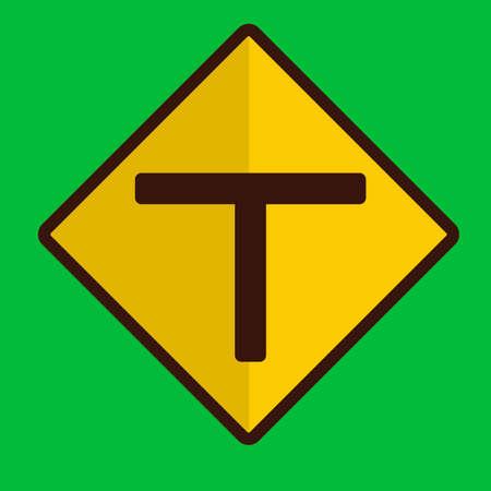 znak drogowy: T znak drogowy