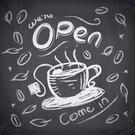 signage: Coffee shop signage Illustration
