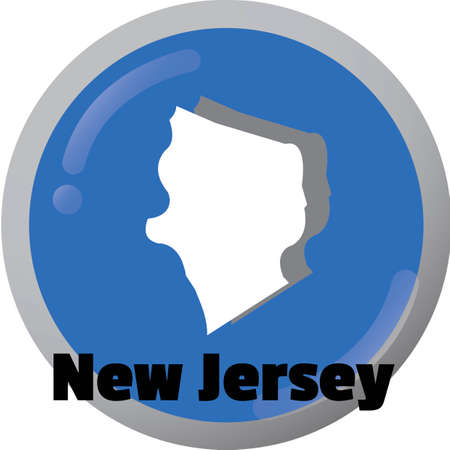 new jersey: New jersey state map
