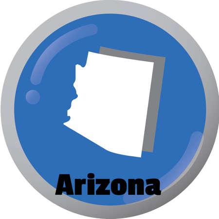 state of arizona: Arizona state map