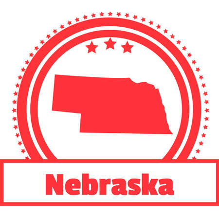nebraska: Nebraska state map label