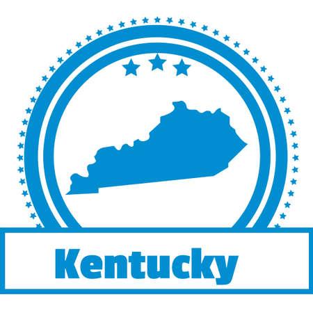 kentucky: kentucky state map label