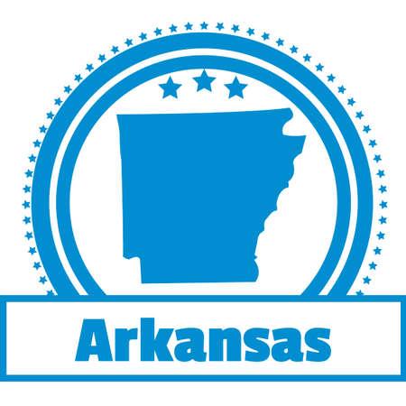 arkansas: Arkansas state map label
