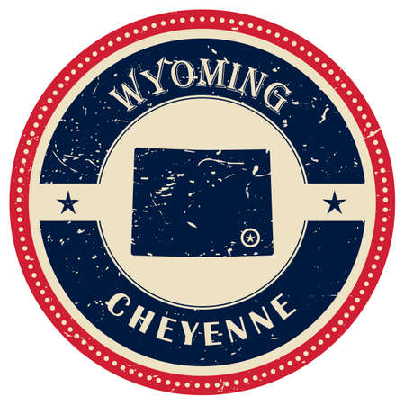 wyoming: Stamp of Wyoming state Illustration