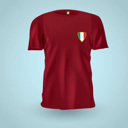 menswear: Italy soccer jersey Illustration