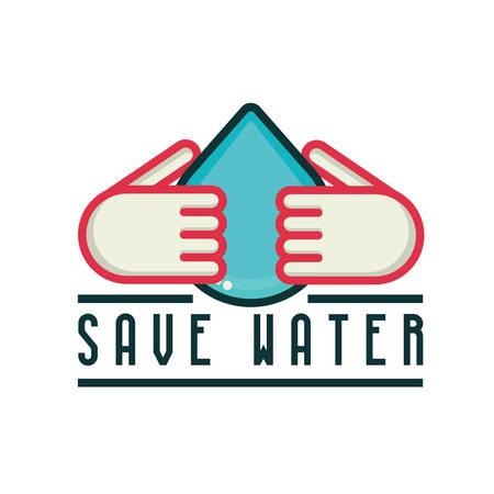 ahorrar agua: Save water Vectores