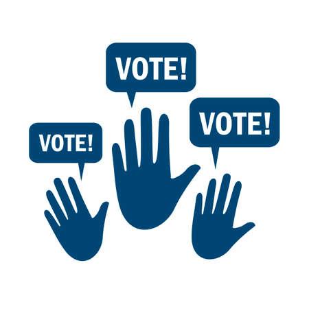 voting: Voting hands