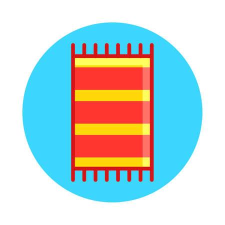 wiping: Beach towel Illustration