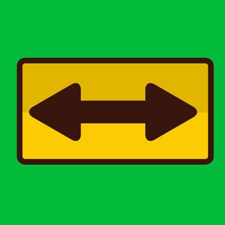 bidirectional: Bi-directional road sign