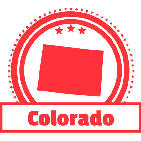 state of colorado: Colorado state map label