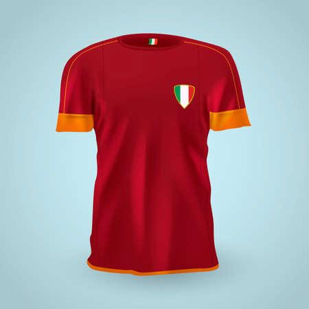 sports jersey: Italy soccer jersey Illustration
