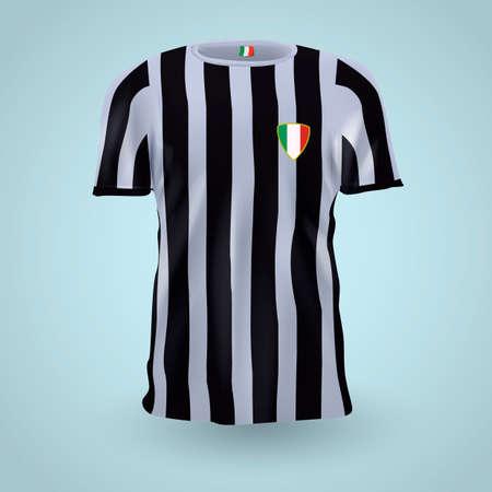 apparel: Italy soccer jersey Illustration