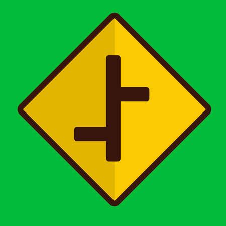 znak drogowy: Offset road sign