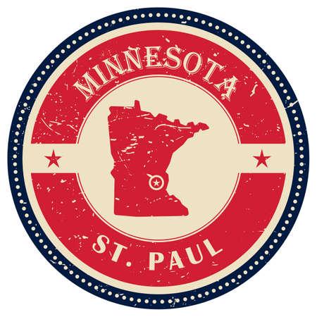 minnesota: Stamp of Minnesota state