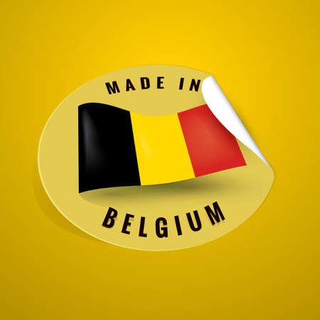 authenticity: Made in belgium sticker Illustration