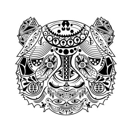 intricate: intricate bear design
