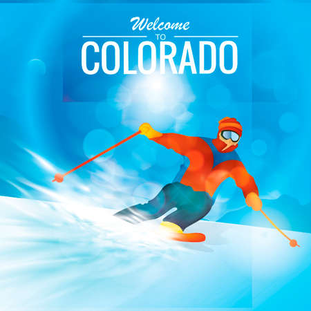 colorado mountains: Snow skiing in colorado