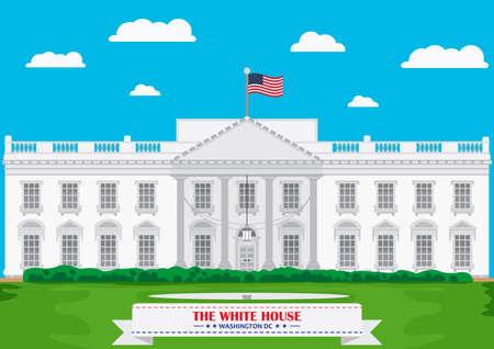 casa blanca: La Casa Blanca, Washington DC Vectores