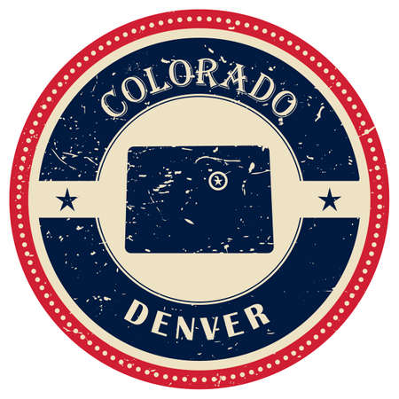colorado state: Stamp of Colorado state