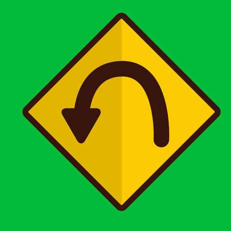 znak drogowy: Szpilka do krzywej znak drogowy Ilustracja