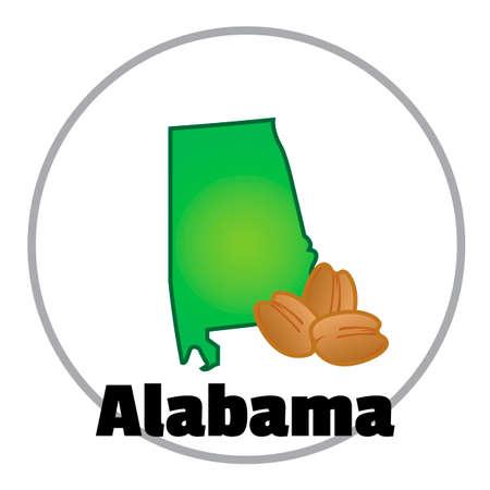alabama: Alabama state map