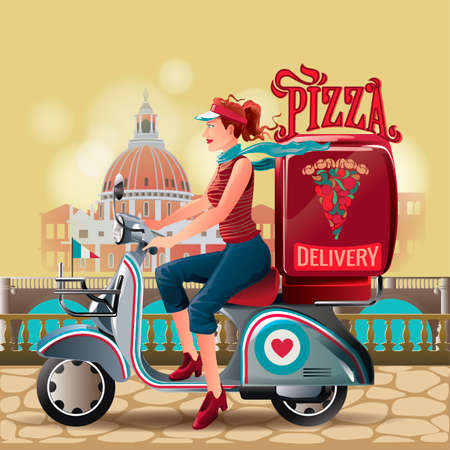 pizza delivery: Pizza delivery girl