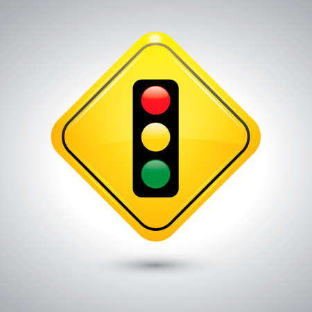slow down: Traffic signal sign