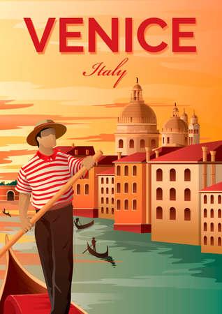 gondolier: Venice