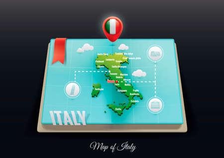 venezia: Italy map Illustration