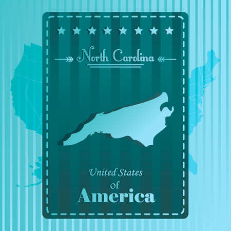 north carolina: North carolina state map label