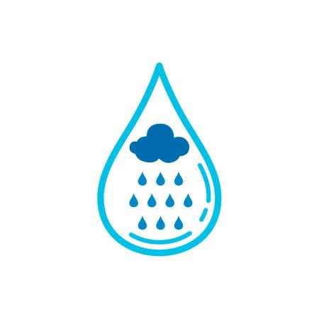 rain cloud: Water with rain cloud