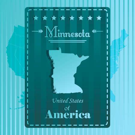minnesota: Minnesota state map label