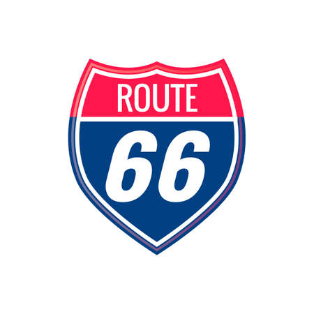 route: Route 66 sign Illustration
