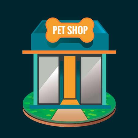tienda de animales: Tienda de mascotas Vectores