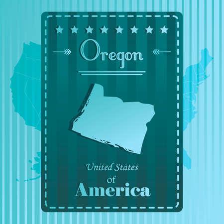 state of oregon: Oregon state map label