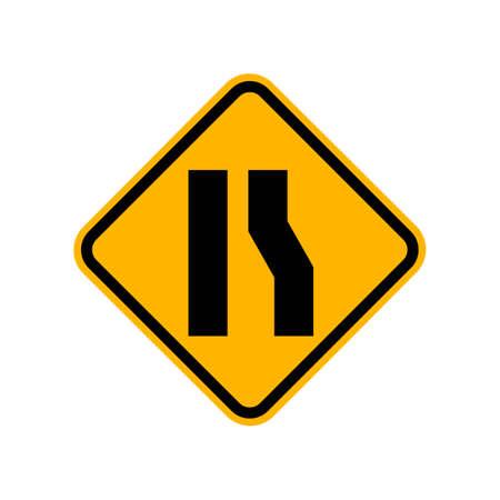 오른쪽으로 도로가 넓어집니다.