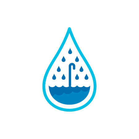 preserve: Water drop with umbrella Illustration