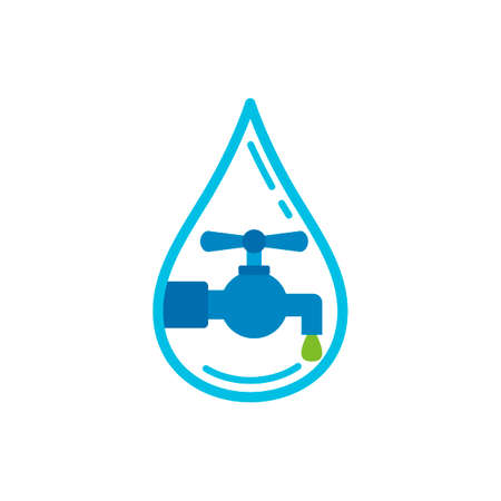 stopcock: Water drop with water tap