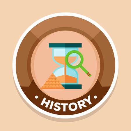 social history: History label Illustration