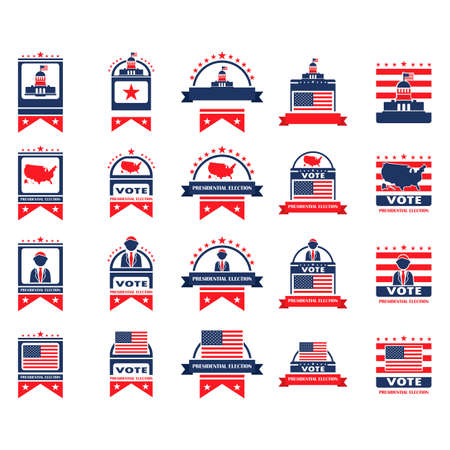 presidential election: Set of presidential election labels
