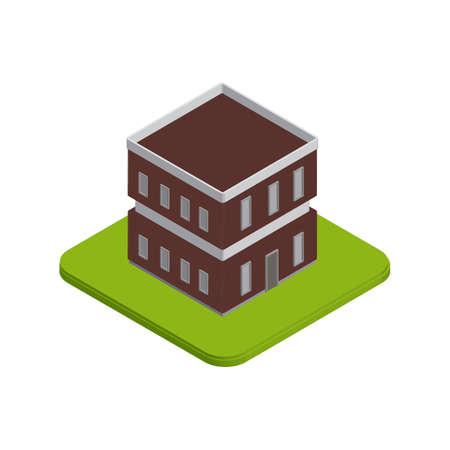 building: Isometric building Illustration