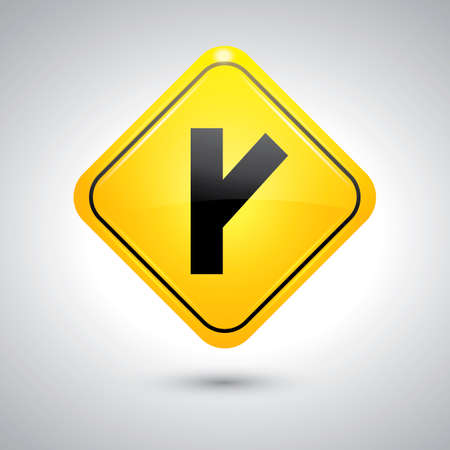 intersection: Right Y intersection sign Illustration